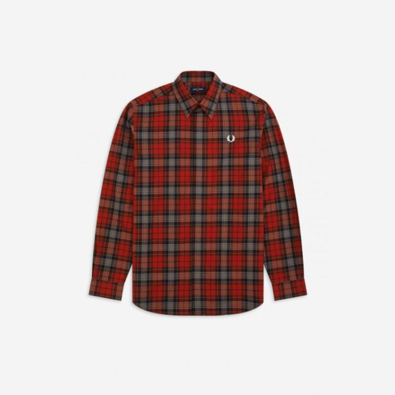 Camisa Fred Perry cuadros rojo Fred Perry