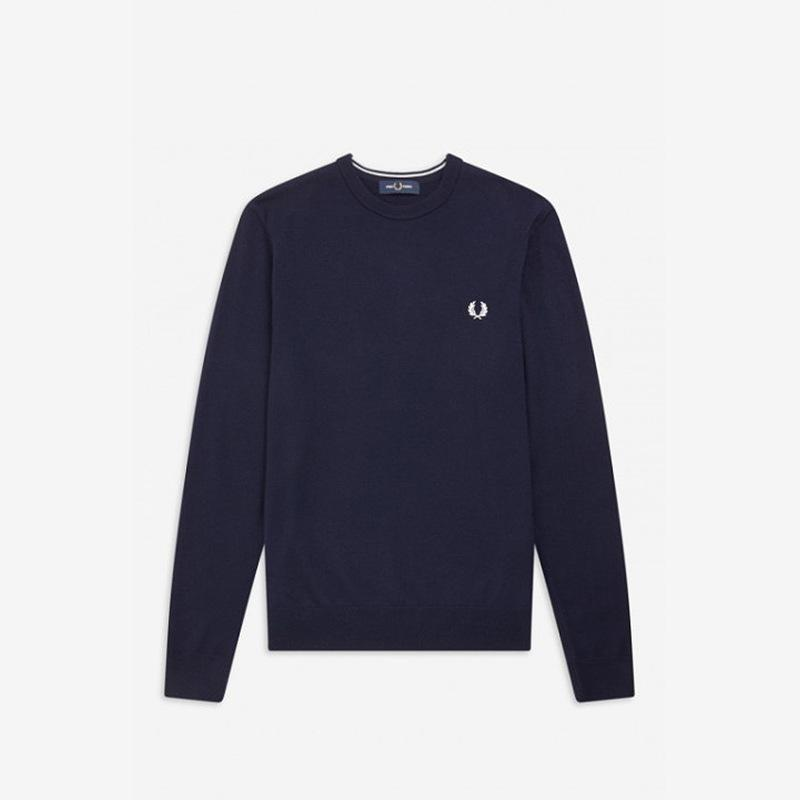 Jersey Fred Perry azul lana merino Fred Perry