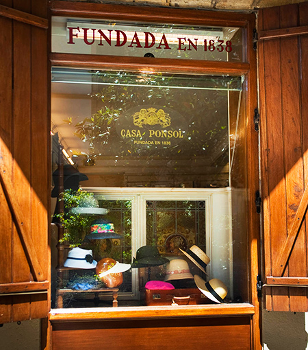 Hat Shop Casa Ponsol Since 1838 the eldest hat shop in Spain