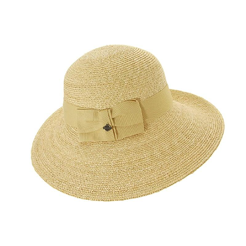 Sombrero Seeberger paja natural beige Seeberger