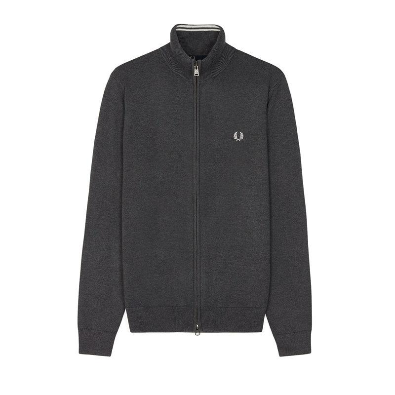 Chaqueta cremallera gris Fred Perry