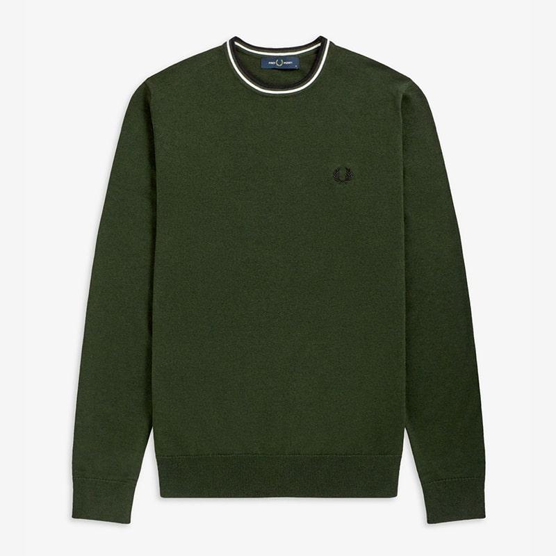 Jersey Fred Perry verde  Fred Perry
