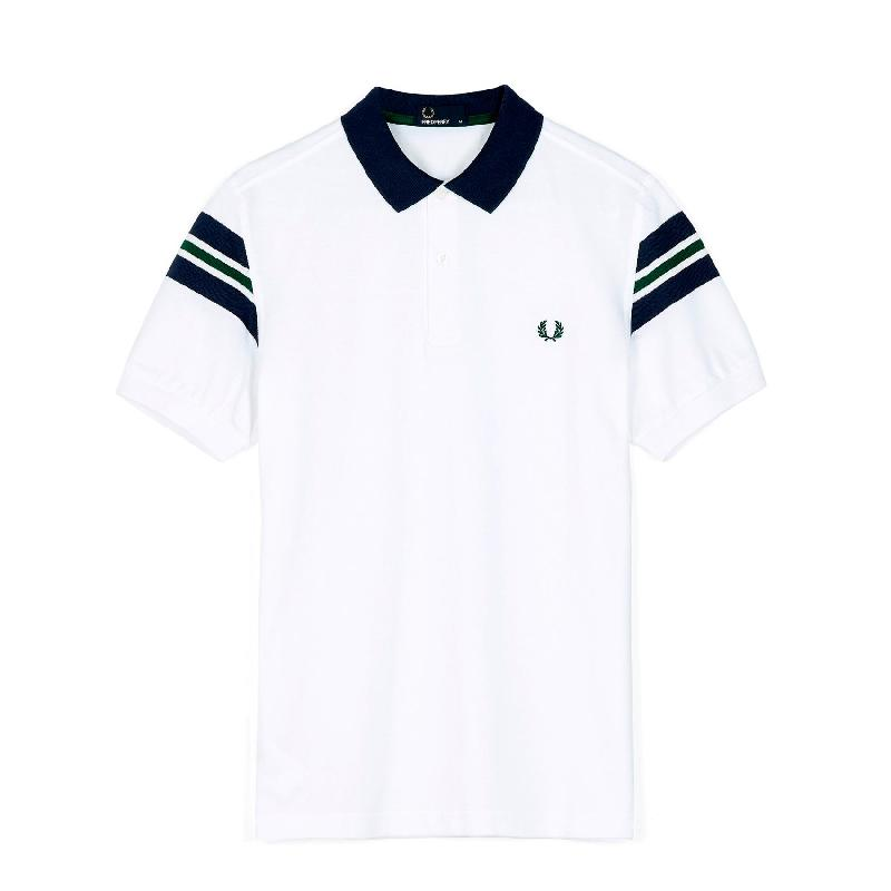 White polo short sleeve 2 buttons