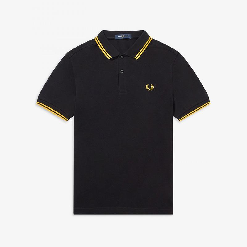 Polo negro manga corta  Fred Perry