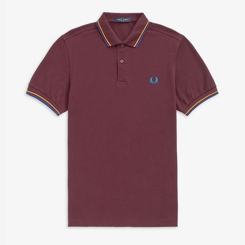 Fred Perry polo granate Fred Perry