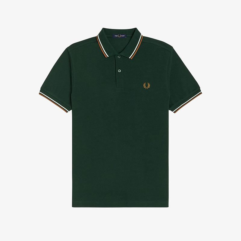 Polo verde manga corta  Fred Perry