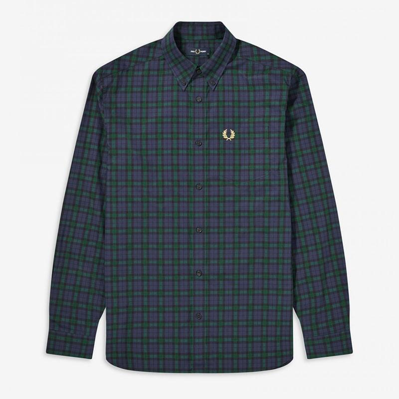 Camisa Fred Perry cuadro verde azul Fred Perry