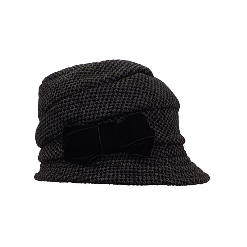 Gorro mujer gris negro Bedacht